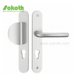 stainless steel handle on plate